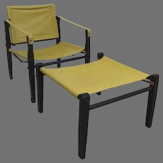 Vintage Gold Medal Safari Chair Folding Furniture Co. Racine Wisconsin