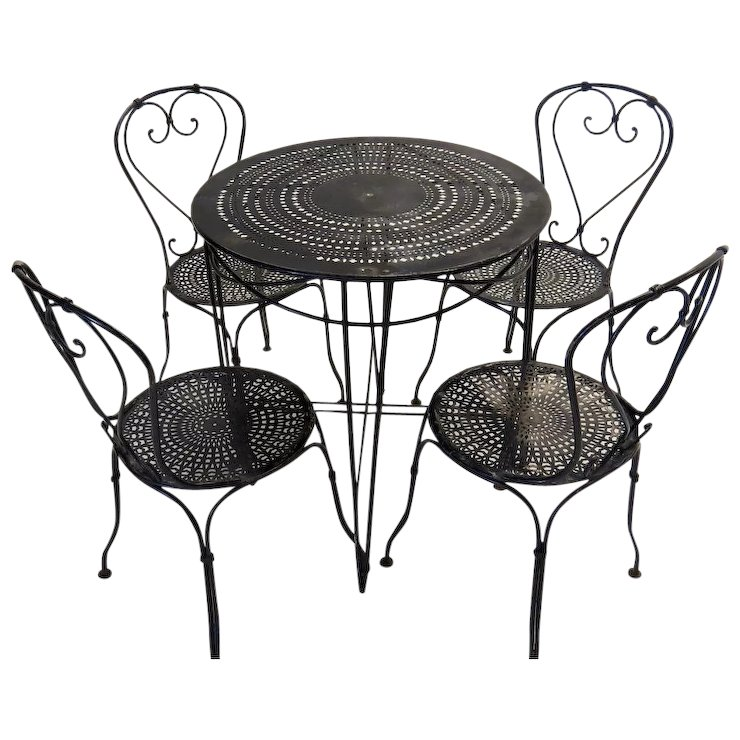 French Bistro Table and Chairs SOLD | Ruby Lane