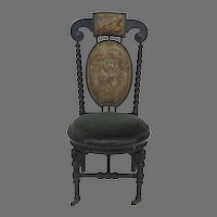 French Ebonized Piano Chair with Adjustable Seat