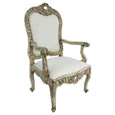 Mid 18th Century Italian Palazzo Rococo carved armchair
