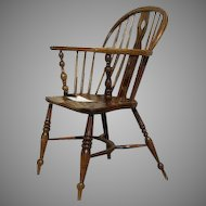 English Ash and Elm Low Back Windsor Chair
