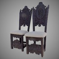 Pair of Carved Louis XIV Style Side Chairs