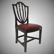 English Shield Back Mahogany Side Chair with Drop in Seat