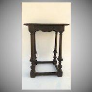 English Oak Tall Joint Stool Box Stretchers Table