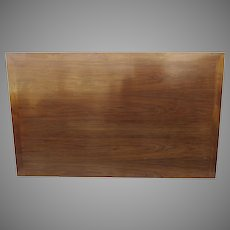 Mid Century Walnut Headboard with Mitered Edge Bed