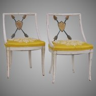 Pair of Painted and Gilt Chair 20th century