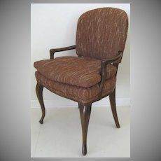 Upholstered Desk Chair Cabriole Legs