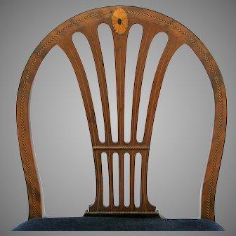 English Hepplewhite Chair Beautiful Inlay