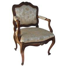 Italian 18th Century Carved Arm Chair