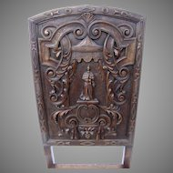 Pair of Carved Tall Renaissance Revival Side Chairs