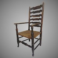 English Yorkshire Wavy Back Arm Chair