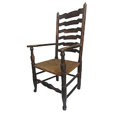 English Yorkshire Wavy Back Arm Chair