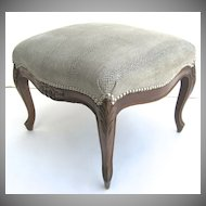 French Louis XV Style Stool Ottoman Bench