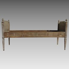 19th Century Louis XVI Style Daybed Child's bed Bench