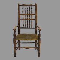 19th Century English Lancaster Ladder Back Arm Chair