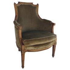 Louis XVI Arm Chair Bergere Fruitwood