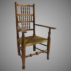 English Ladder Lancaster Arm Chair Country Rustic