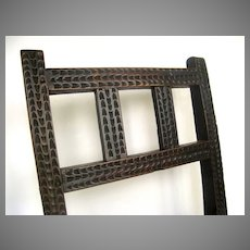 Spanish Colonial Chip Carved Mortise and Tenon Chair