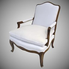 Late 19th Century French Louis XV Style Walnut Arm Chair