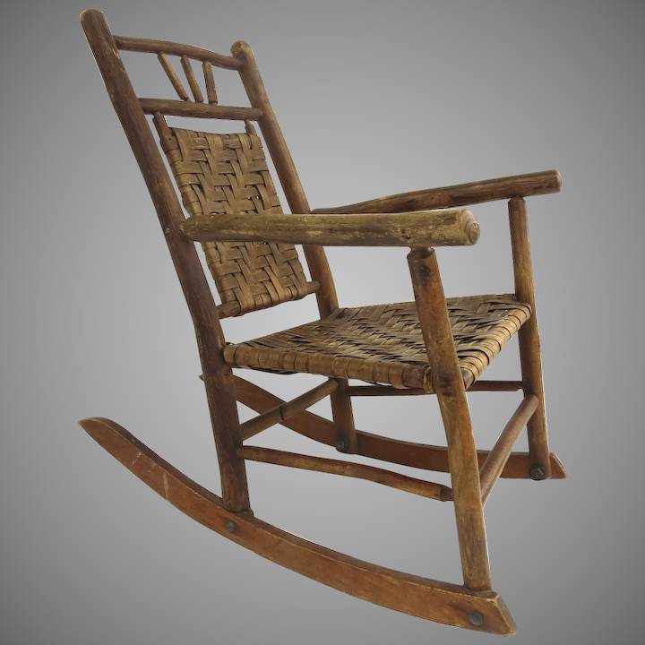 Marvelous Early 20Th Century American Rustic Old Hickory Rocking Chair Gmtry Best Dining Table And Chair Ideas Images Gmtryco