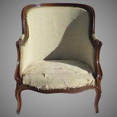 Late 19th Century French Walnut Tub Chair