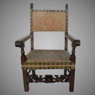 Spanish Walnut Carved Chair