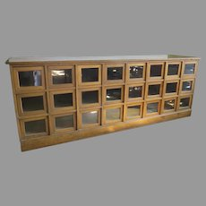 Country Store 1900's Long Seed Cabinet Oak 24 Drawers