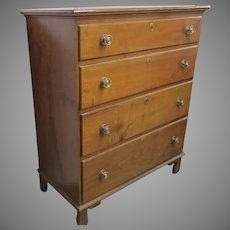 American  Poplar Tall Chest  of Drawers, 19TH Century