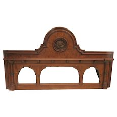 19th Century Mirrored Arched Columns Backsplash Headboard Mantel Re-purpose Up-cycle Gothic
