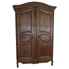 Louis XV Grand Walnut Armoire Provence 18th Century