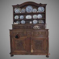 18th Italian Walnut Carved Cupboard Vaisselier