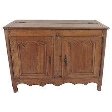 French Country Provincial Pear Wood Buffet Two Door Lift Top