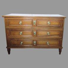 Italian Three Drawer Commode c 1800