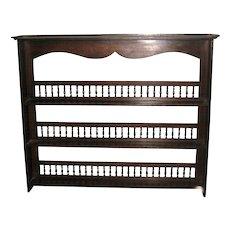 Oak Dresser Rack Top with Turned Spindles