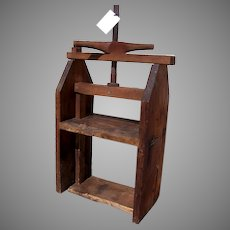 Country Primitive Large Cheese Press