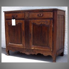 French Provincial Two Door Buffet Short Cabriole Legs Iron Hardware