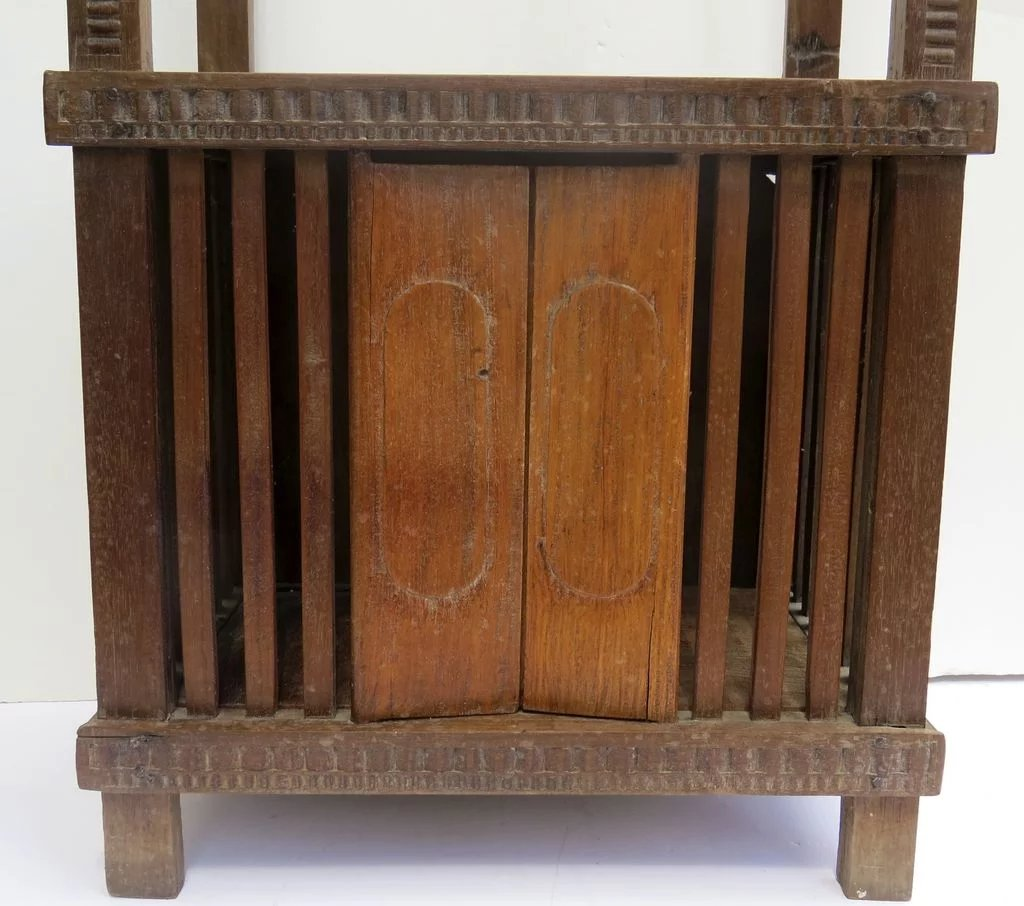 Carved Tables Philippines: Philippine Carved Pillow Rack Bookcase Stand Narrow