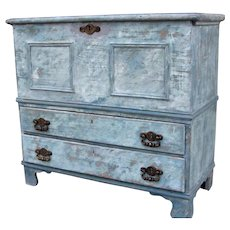 American Painted Lift Top Mule Chest