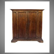 Italian Walnut Two Door Cupboard with Bracket Feet.