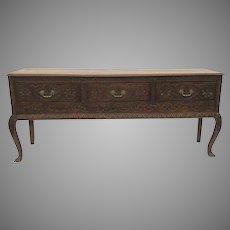 English Oak Carved Dresser Base Sideboard  Dresser and Rack