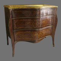 Italian Inlaid Marble Top Commode c 1800