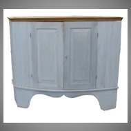 Painted Corner Cabinet, Asymetrical
