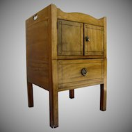 English Mahogany Commode with Ebony Line Shaped Gallery Top