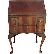 Vintage Slant Front Desk Walnut 1920's Two Drawer