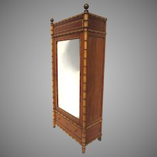 19th Century French Faux Bamboo Pine Armoire