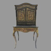 Vintage Boulle Secretaire Desk As Found