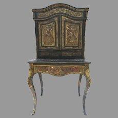 Vintage Boulle Secretaire Desk As Found
