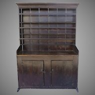 19th Century Primitive Cupboard Sledge Foot Two Doors