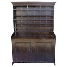 19th Century Primitive Cupboard Sledge Foot Two Doors