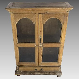 Vintage Mexican Small Cabinet Two Door One Drawer